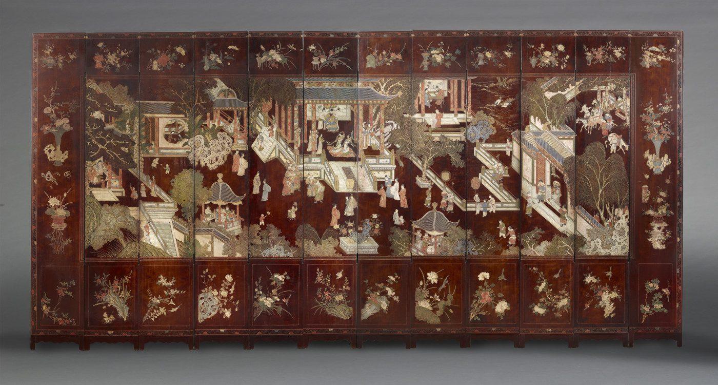 Paravent à 12 feuilles à décor de palais 260cm x 44 (par feuille)