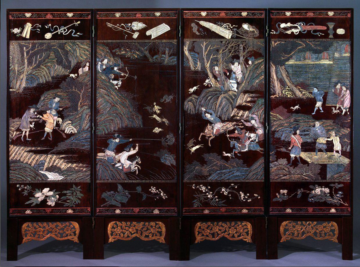 Un paravent de Coromandel au Musée de Lorient