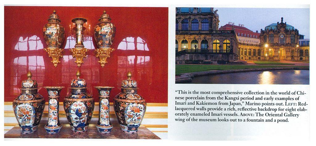 Gli archi della galleria orientale del museo di Dresda