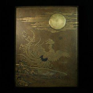 Bonko en laque d'or à décor de phoenix