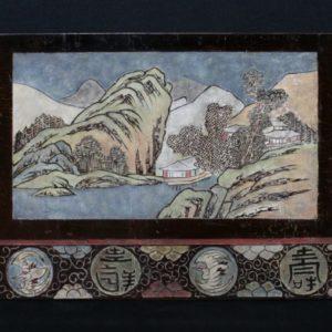 Triptyque Paysages en laque de Coromandel