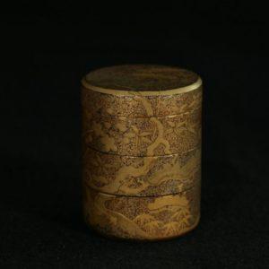 Boîte à 3 compartiments à décor de cerisier